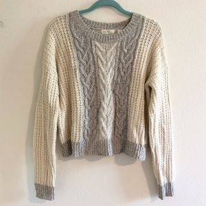 ANTHROPOLOGIE sleeping on snow cable knit sweater